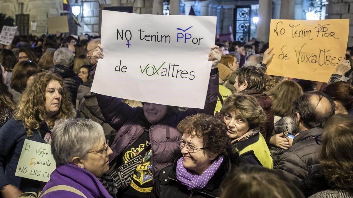 Concentración en València, el pasado enero.
