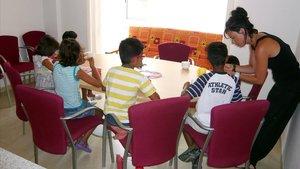 Varios niños internados en un centro de menores.