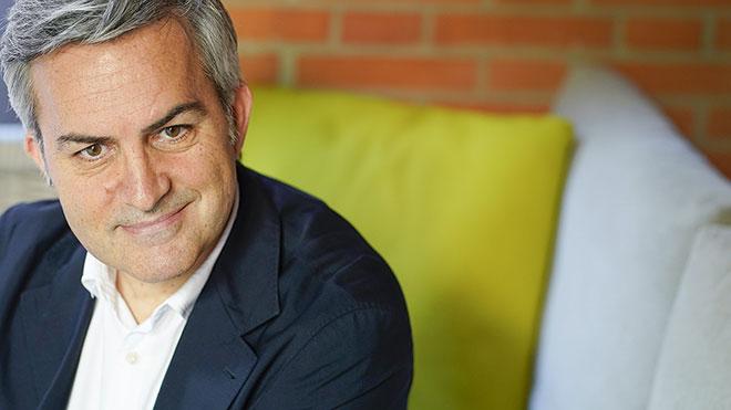 Víctor Font, candidato a la presidencia del Barça, durante la entrevista.