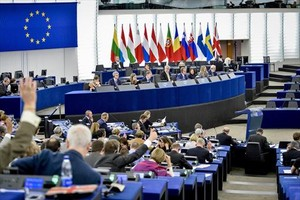 Sesión plenaria en el Parlamento Europeo.