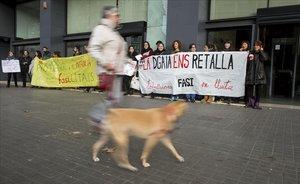 Els educadors dels centres de menors tutelats protesten per les «precàries» condicions de treball