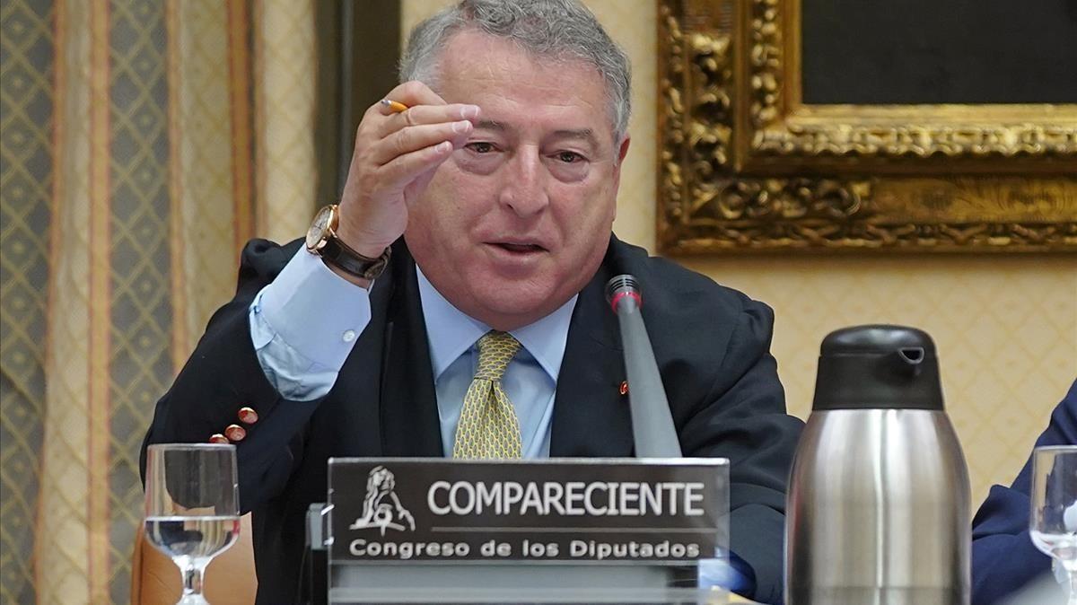 JoséAntonio Sanchez, presidente de RTVE,en el Congreso de los Diputados.
