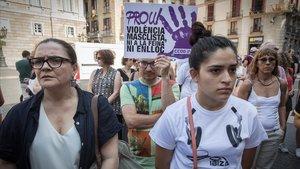 Manifestación en Barcelona contra la violencia machista, en agosto.