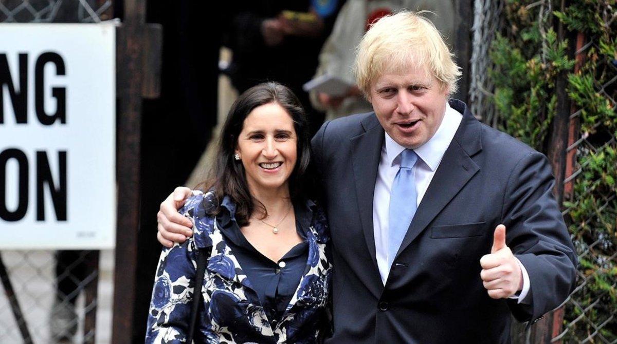 Boris Johnson y su exmujer Marina Wheeler en 2012.