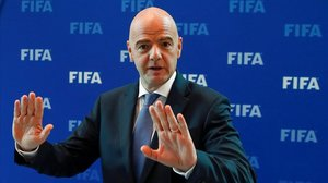 Gianni Infantino. el presidente de la FIFA.