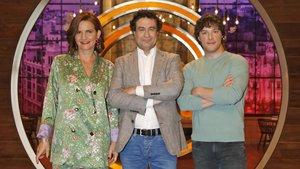Samantha Vallejo-Nágera, Pepe Rodríguezy Jordi Cruz, jueces del concurso de TVE-1 Masterchef 7.