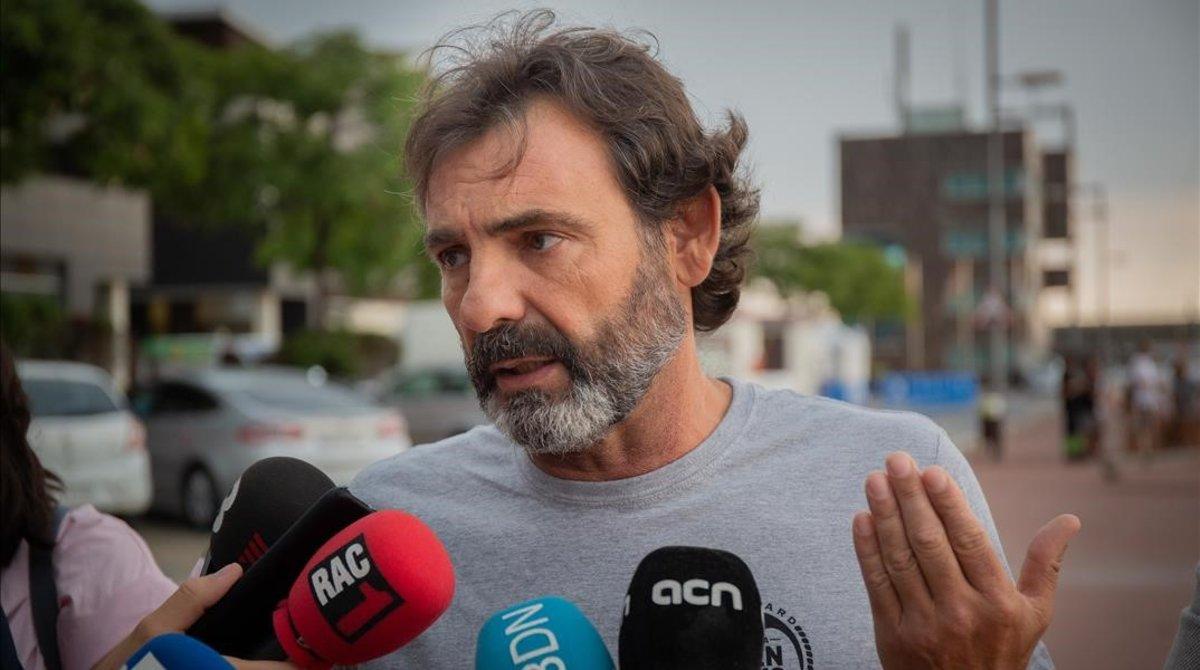 Óscar Camps, durante una comparecencia ante los medios en Barcelona.