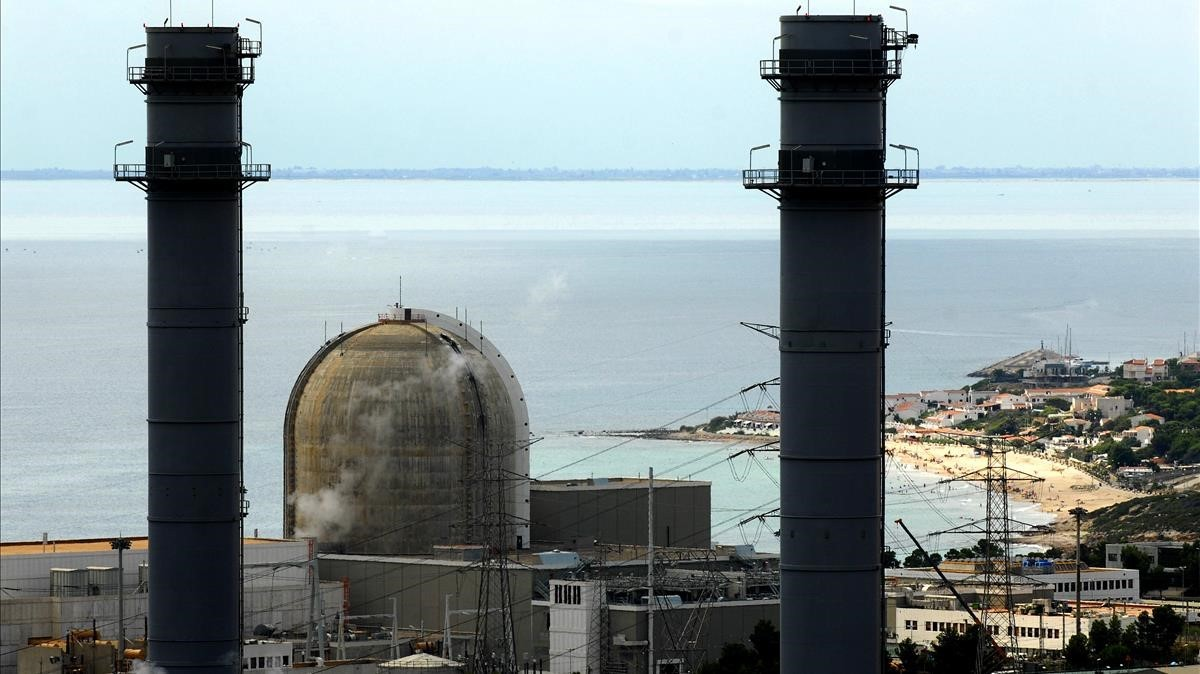 Central nuclear de Vandellòs 2, actualmente en fase de parada.