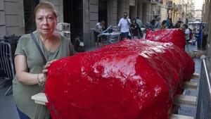Rosa Comellas, alcarrer de la Llibertat.