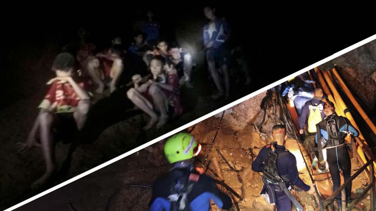 Només queden cinc persones a la cova de Tailàndia, després de dos dies de rescat exitós
