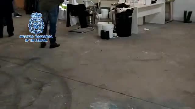 La Policía Nacional detiene a un cocinero de speed y desmantela dos laboratorios de elaboración de droga
