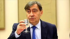El fiscal general del Estado, Julián Sánchez Melgar, este miércoles en el Congreso de los Diputados.