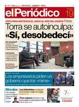 La portada de EL PERIÓDICO del 19 de noviembre del 2019