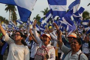 El pueblo de Nicaragua demanda la renuncia del presidente Daniel Ortega.