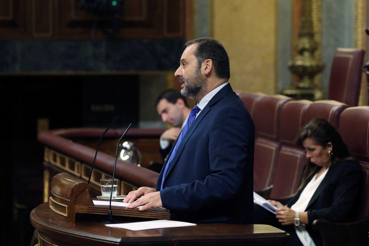 El ministro de Fomento, José Luis Ábalos, durante unaintervención en el Congreso.