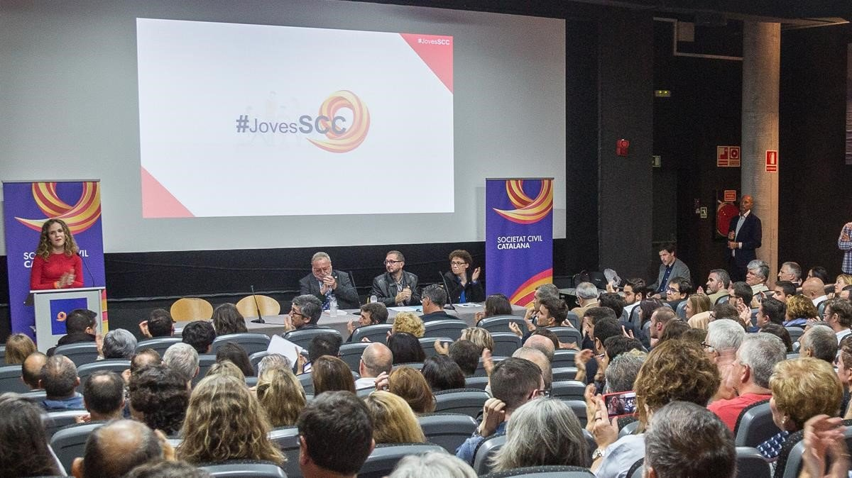 Acto organizado por Societat Civil Catalana en la Universitat Autònoma de Barcelona, en noviembre del 2017.