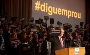 Acto reivindicativo de Pimec en el 2014 contra la falta de crédito y las subidas de impuestos.