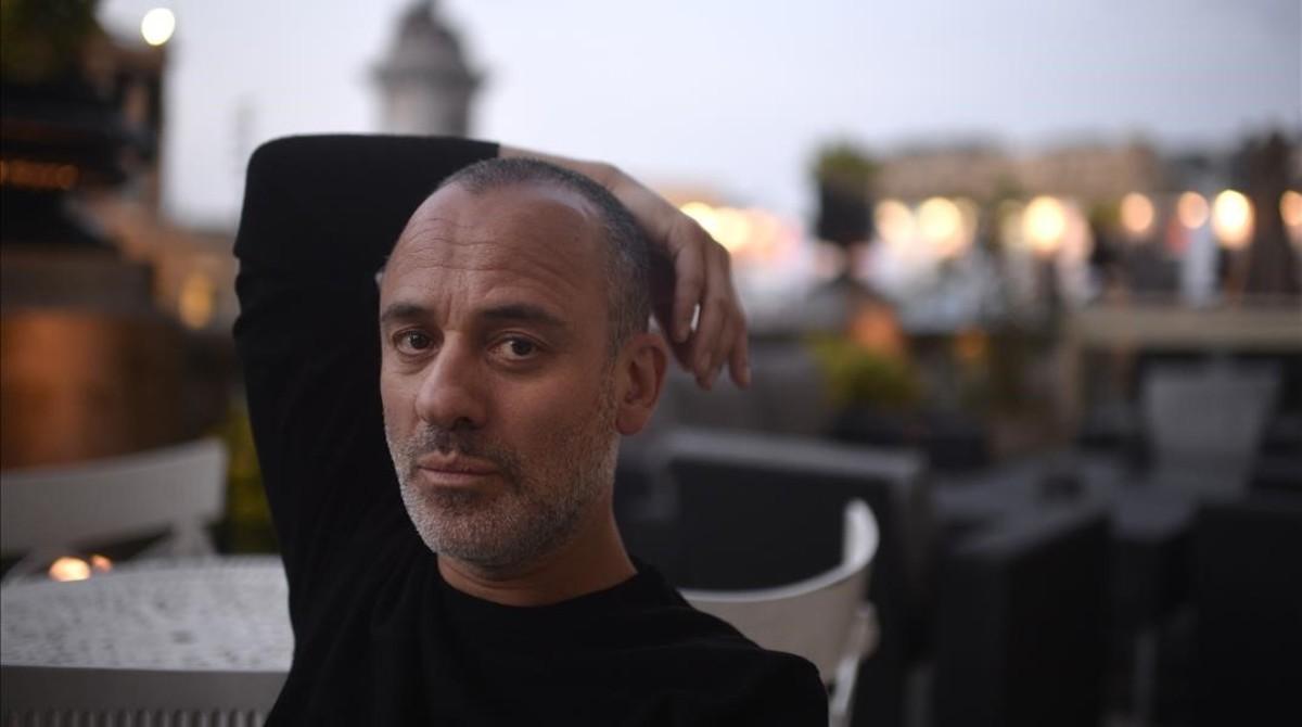 El actor Javier Gutiérrez, en el festival de San Sebastián, donde concursa con El autor.