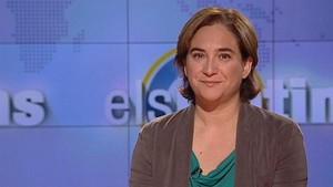 Ada Colau, durante la entrevista en Els matins de TV-3.