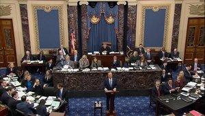 Adam Schiff, jefe de los fiscales, durante su comparecencia en el Congreso.