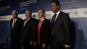 Apertura de laConferencia Unión del Mediterráneo en Barcelona