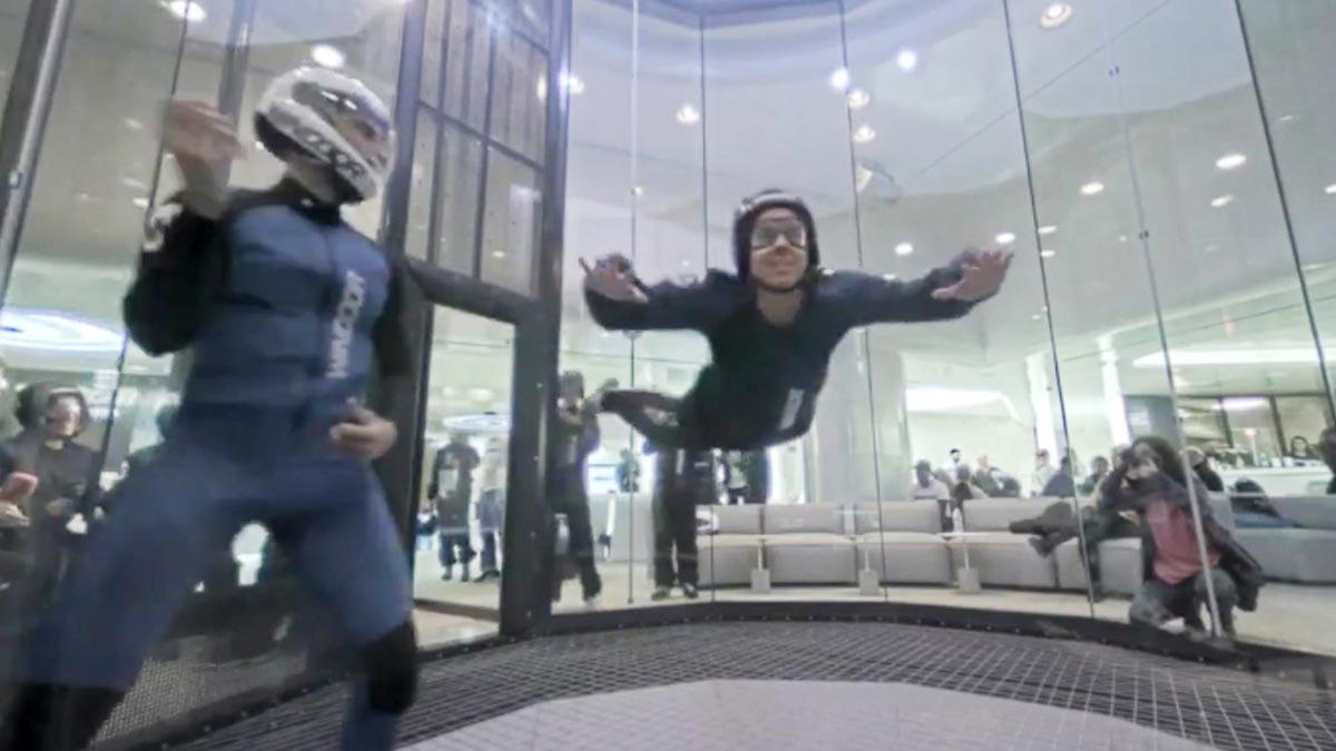 Un vuelo en el túnel de viento de Cornellà. Incluye twister con el instructor.