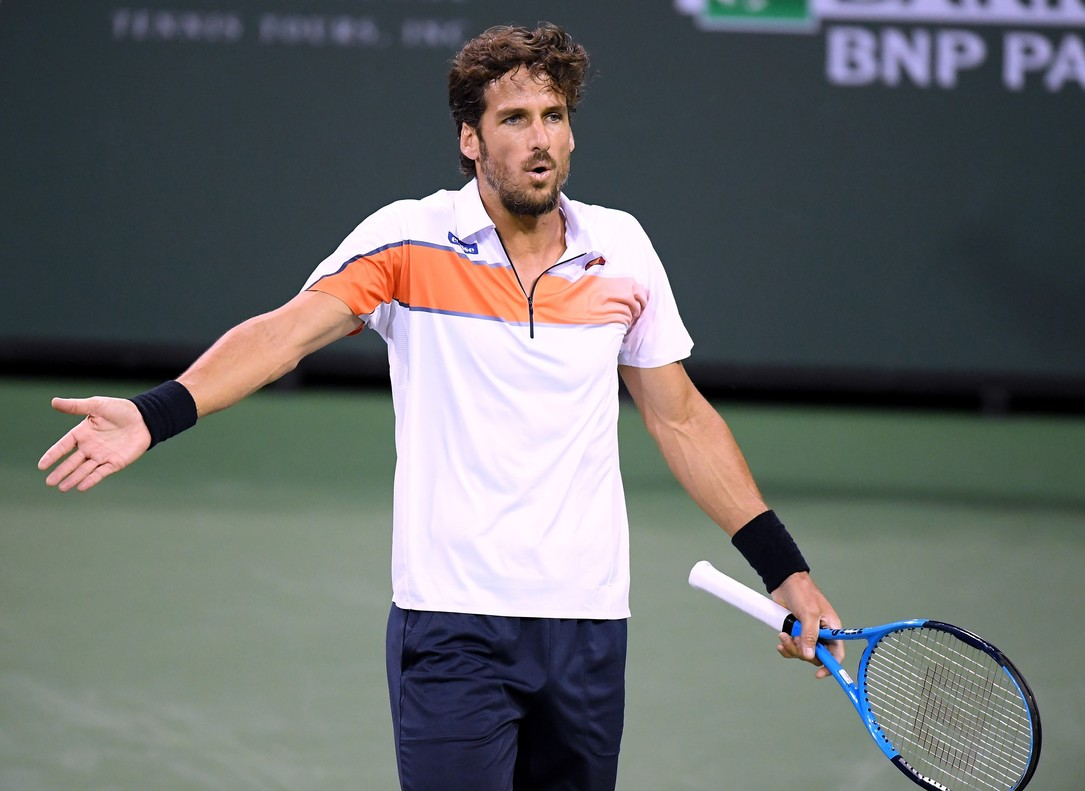 Feliciano Lopez se lamenta en Indian Wells.