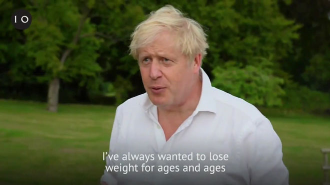 Boris Johnson reconoce que tenía sobrepeso cuando superó el coronavirus.