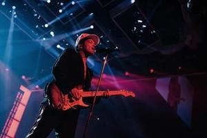 Bruno Mars, en el Estadi Olímpic de Barcelona, el pasado mes de abril