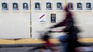 Carteles de los presos independentistas del 1-O en la calle Pallars.