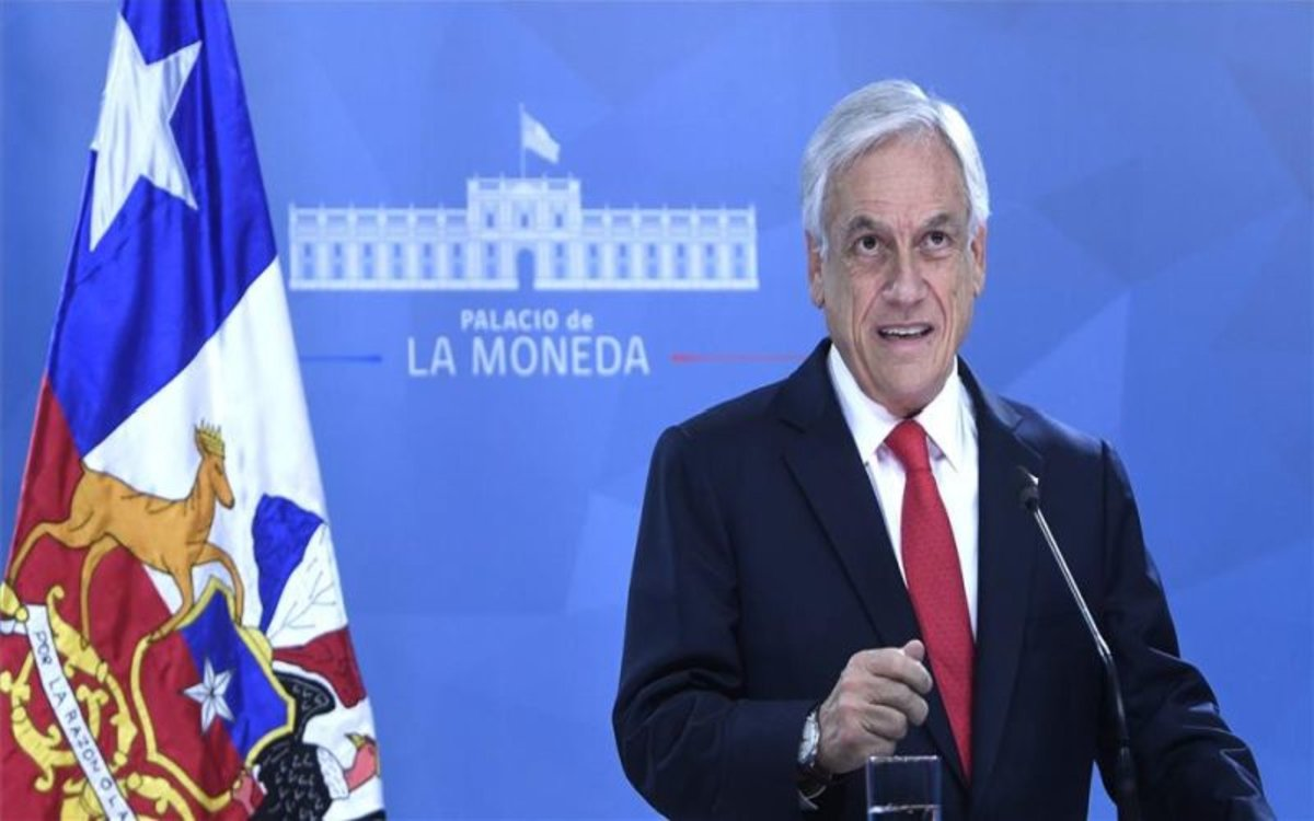 Sebastián Piñera, el presidente de Chile.