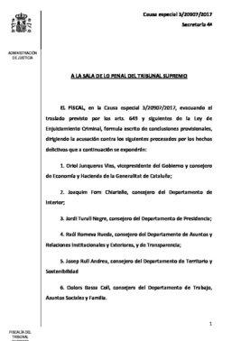 Conclusiones provisionales del Tribunal Supremo
