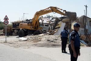 Desmantelamiento del asentamiento ilegal de El Gallinero.