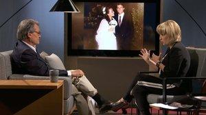 Artur Mas, 'president' de la Generalitat, conversa con Sílvia Coppulo en 'El divan' (TV-3).