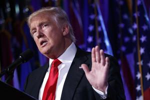 Donald Trump, durante un acto en Nueva York.
