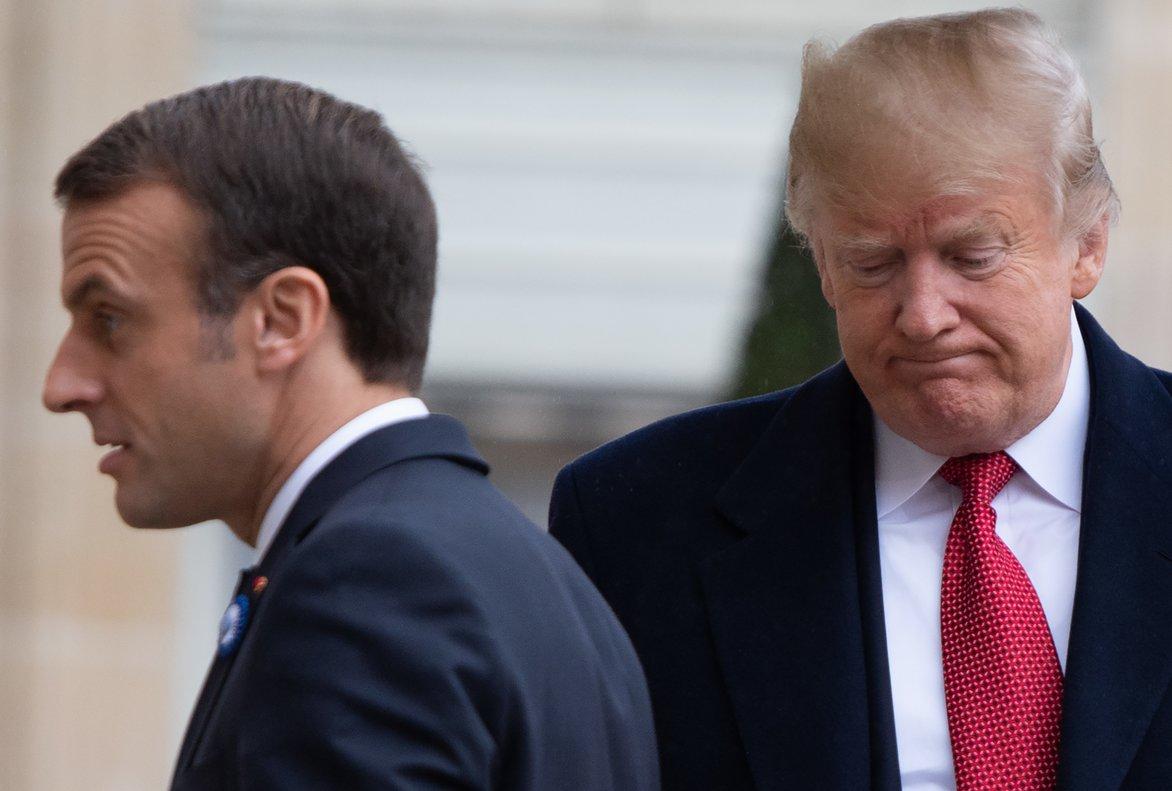 Donald Trump y Emmanuel Macron, en una imagen de archivo.