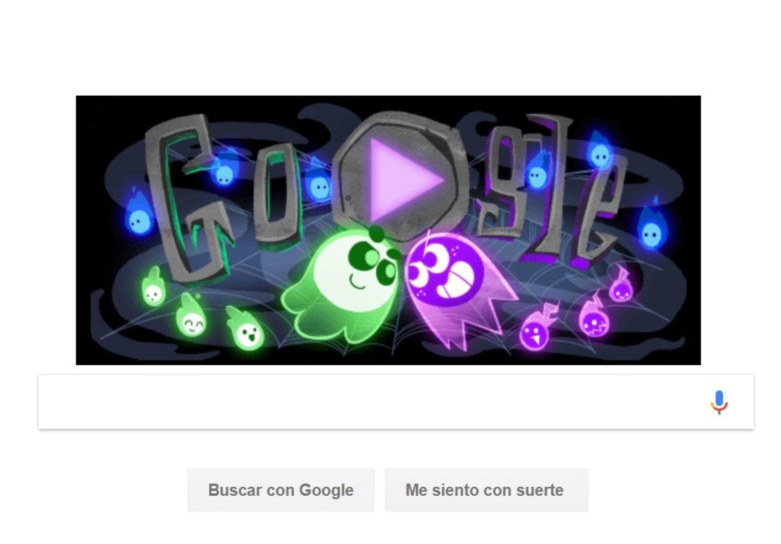 Este año Google celebra Halloween con uno de sus doodle más novedosos.