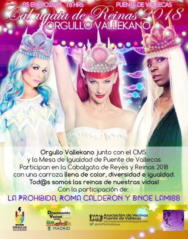'Drag queen' en la Cabalgata de Vallecas