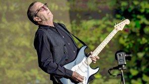 Eric Clapton, en julio del 2018, durante un festival de verano en Hyde Park, en Londres.