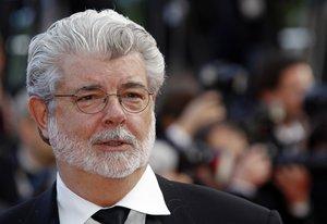 Imagen de George Lucas en una ceremonia en Cannes.