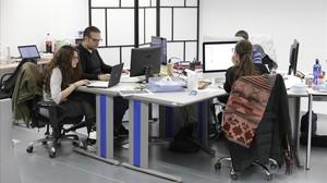 Oficinas de la empresa HeyGo, en Sant Cugat del Vallès.