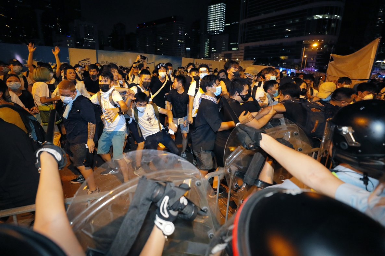 Protestas en Hong Kong en contra de la ley de extradición china.