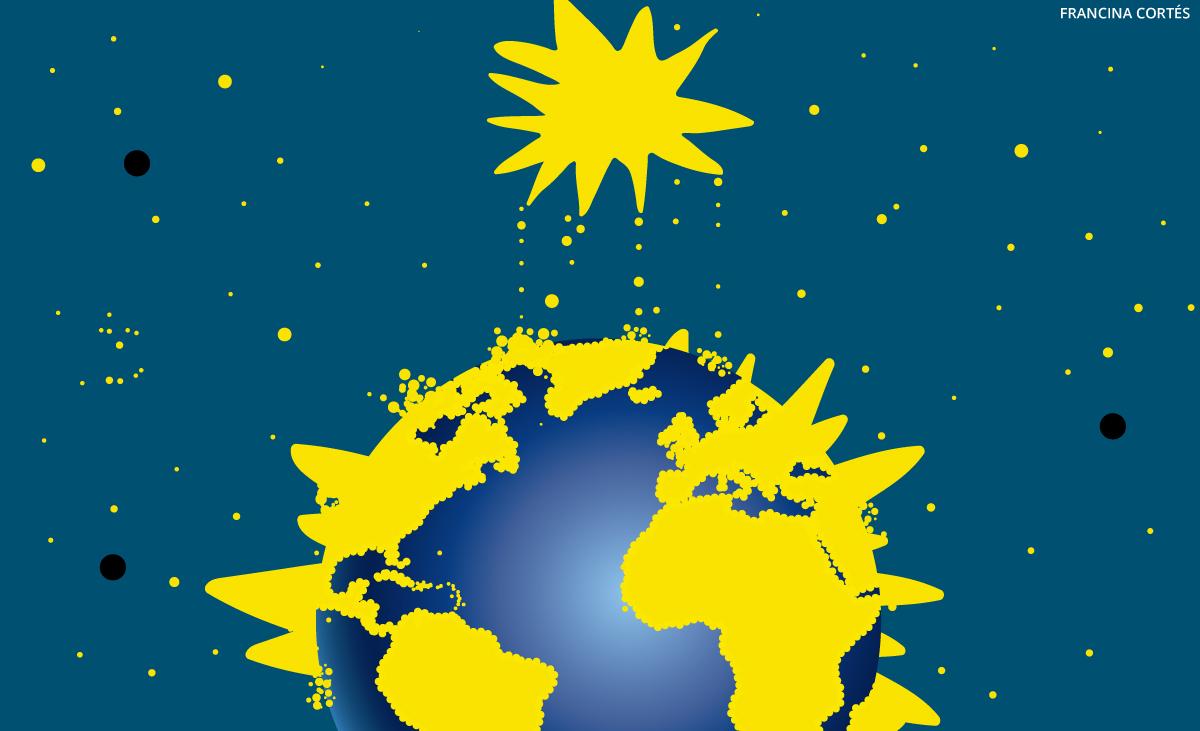 Polvo de estrellas concentrado por la Tierra