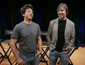 Sergey Brin, izquierda, y Larry Page, cofundadores de Google.