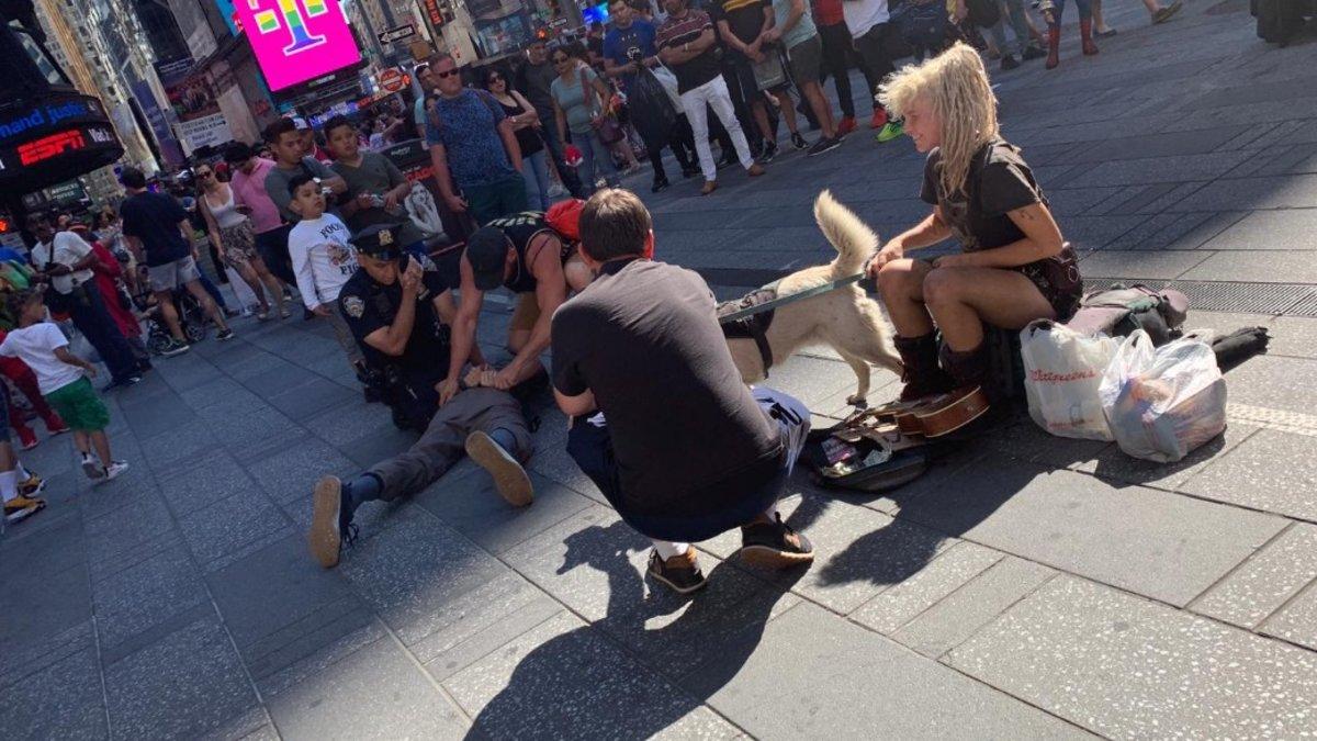 Imagen de la actuación policial en Nueva York.