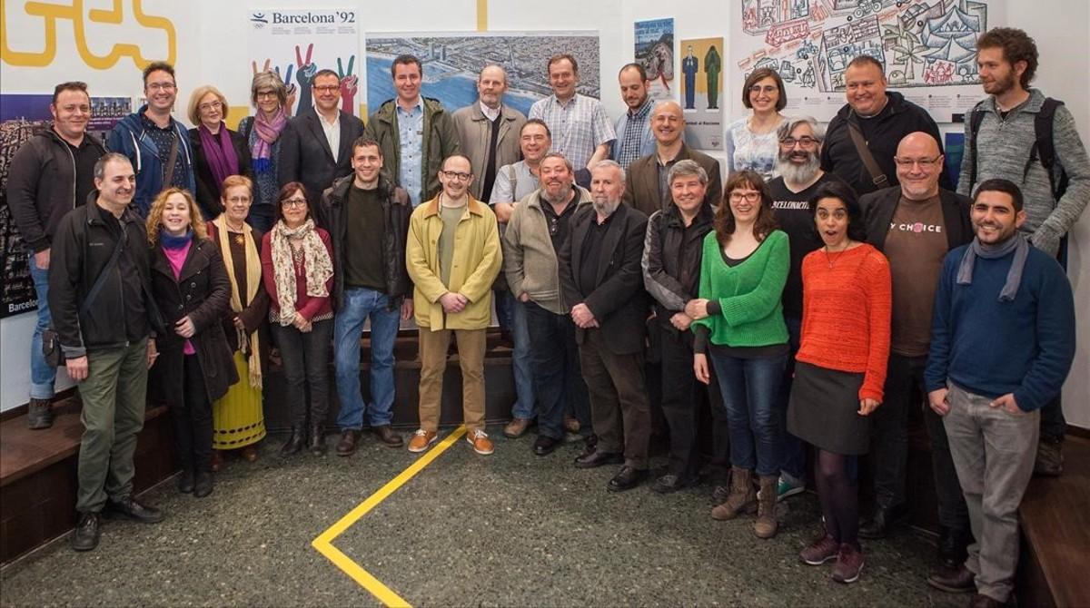 Reunión de blogueros que escriben sobre Barcelona en el Museu Etnològic de Montjuïc.