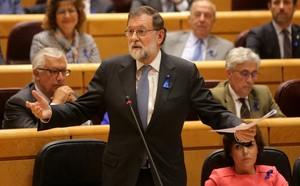 El presidente del Gobierno, Mariano Rajoy, en el Senado.