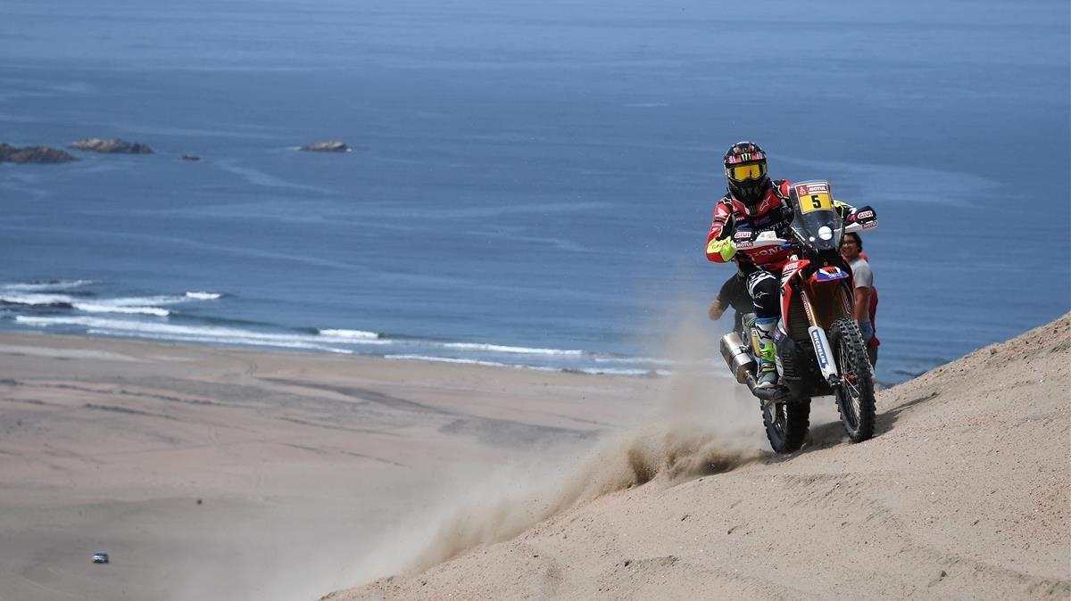 Joan Barreda, con su Honda.