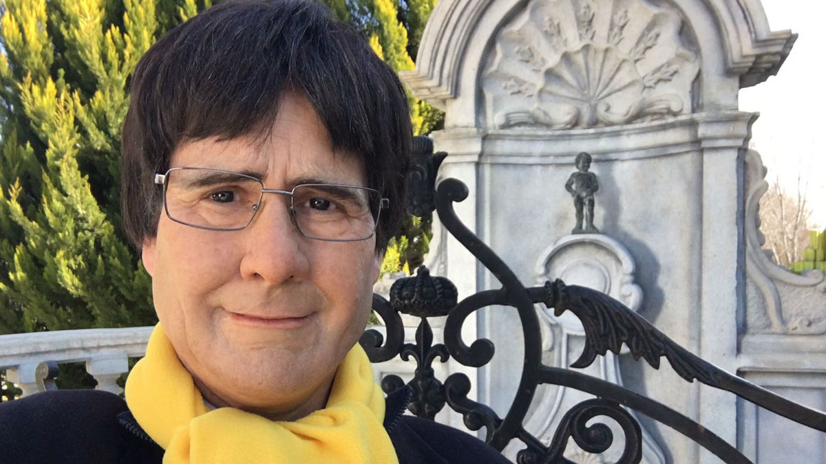 Joaquín Reyes, disfrazado de Carles Puigdemont para El intermedio de La Sexta