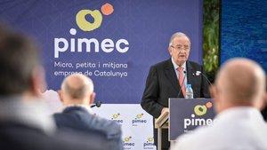 Josep González, presidente de Pimec, en el acto celebrado en Barcelona.